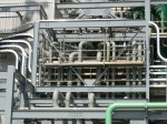 Desulfurization piping in plant