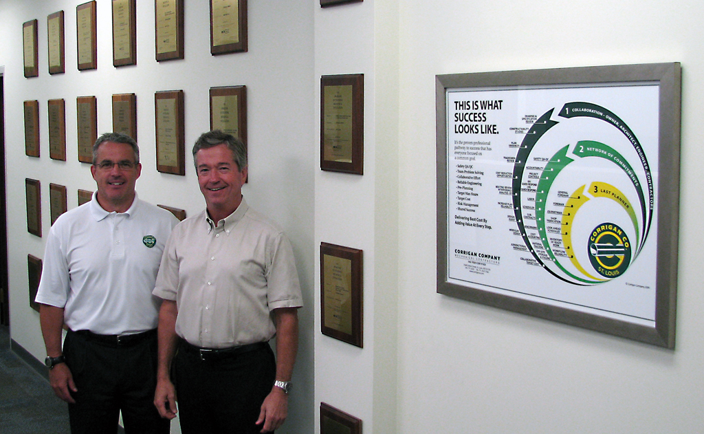 Dennis Corrigan & Mike McAuliffe Award Wall